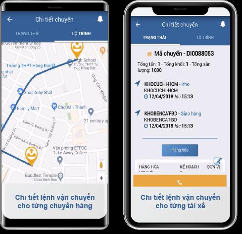 Quản lý vận tải trên smartphone