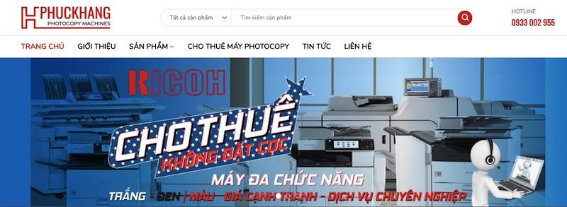 Website bán máy photocopy Ricoh Hưng Phúc Khang