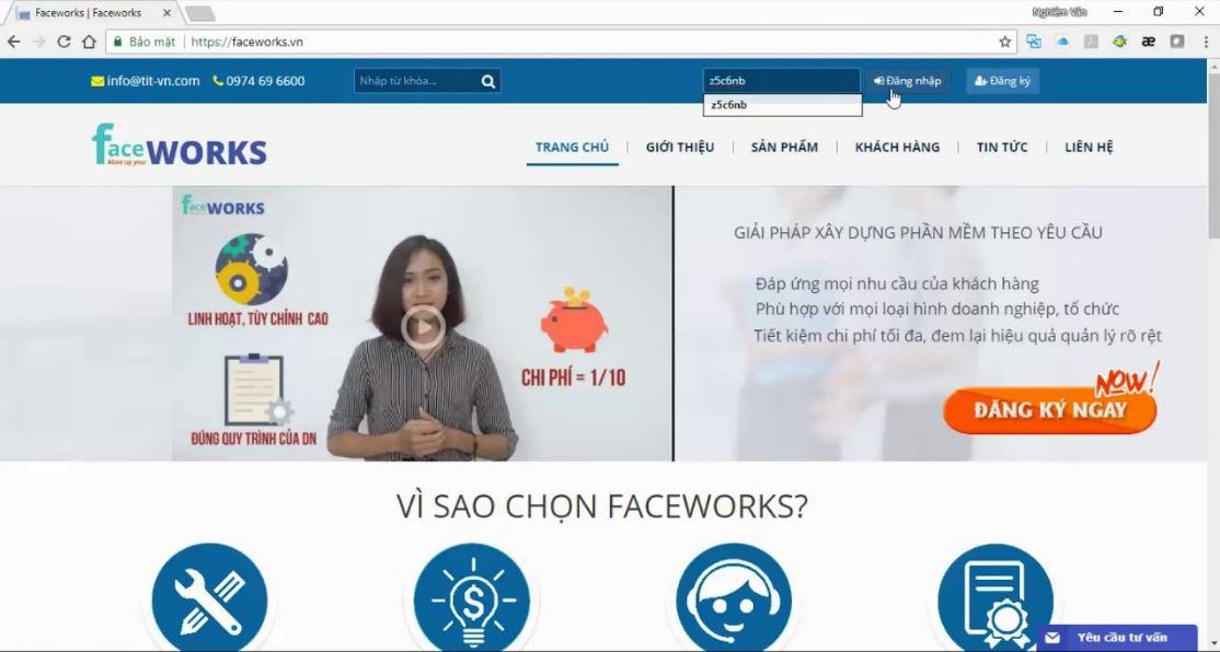 Phần mềm FaceWorks
