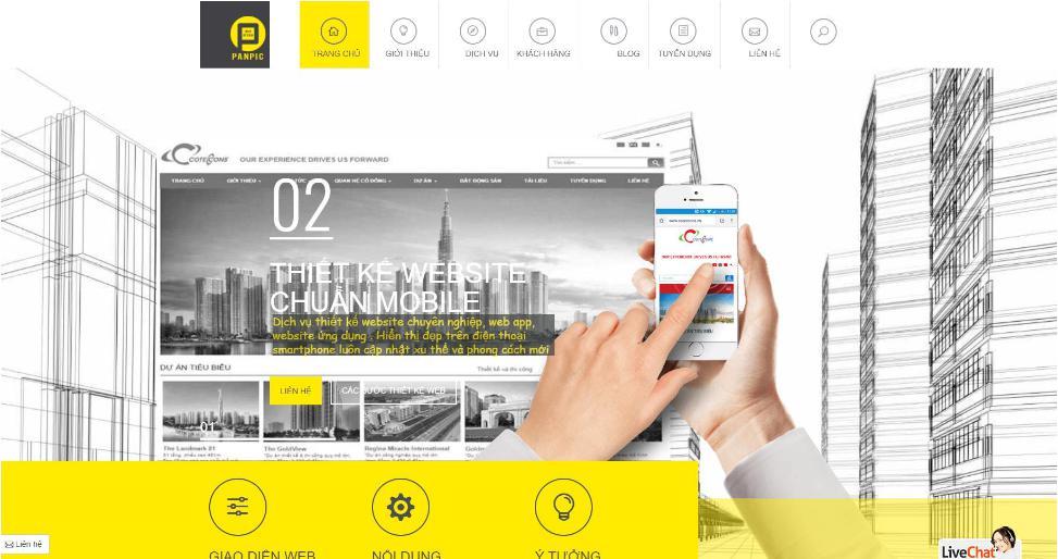 Công ty thiết kế website Panpic