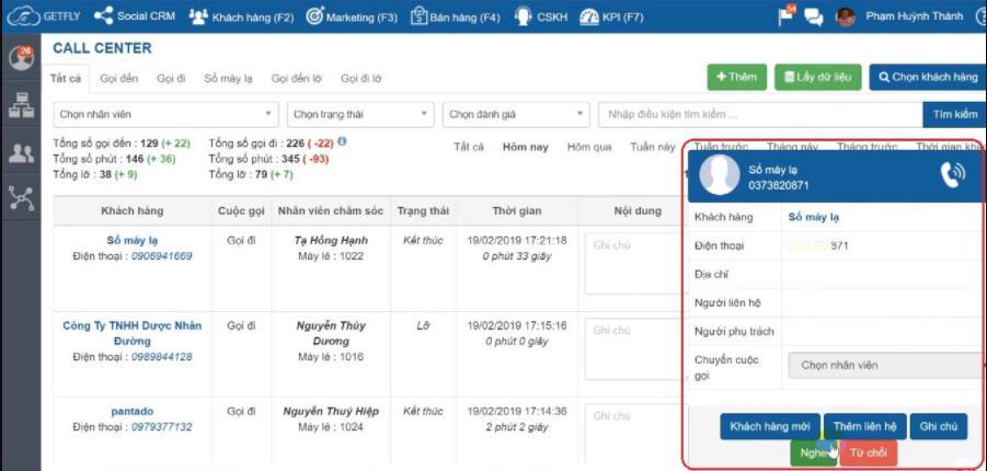 Phần mềm quản lý spa GetFly CRM