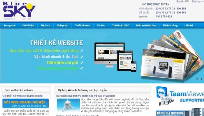 thiết kế website nhập hàng bluesky