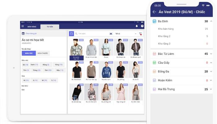 Phần mềm quản lý hàng hóa siêu thị trên điện thoại - Misa