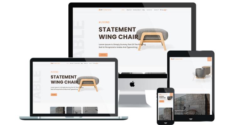thiết kế website nội thất chuẩn responsive