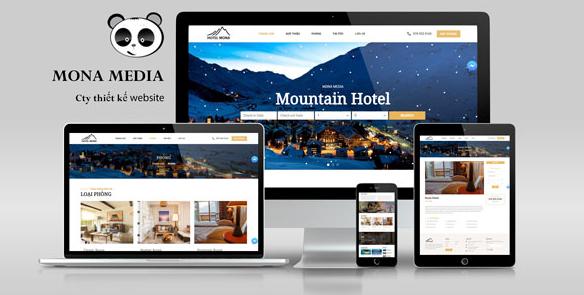 Mẫu website khách sạn.