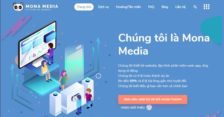 Công ty thiết kế website bất động sản chuyên nghiệp Mona Media.