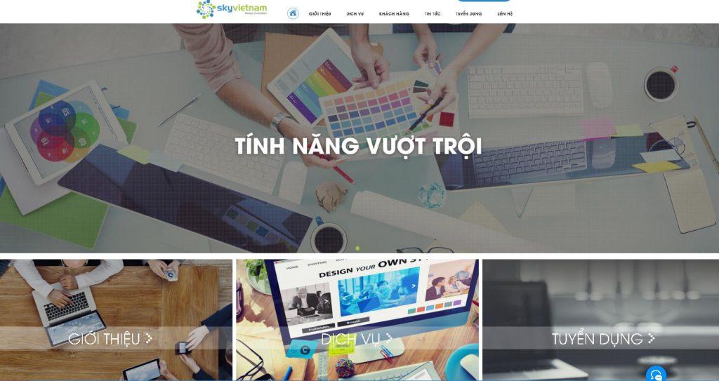 Đơn vị lập trình web bất động sản Sky Việt Nam