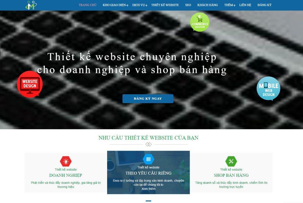 Công ty thiết kế web nhà đất nhanh Thietkewebnhanh247.com