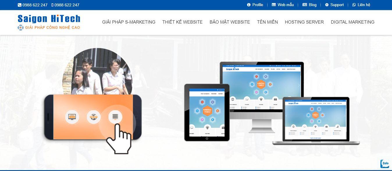 Công ty thiết kế web Saigon Hitech