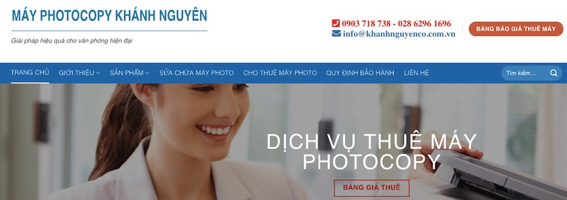 Bán máy photocopy mới và cũ Khánh Nguyên