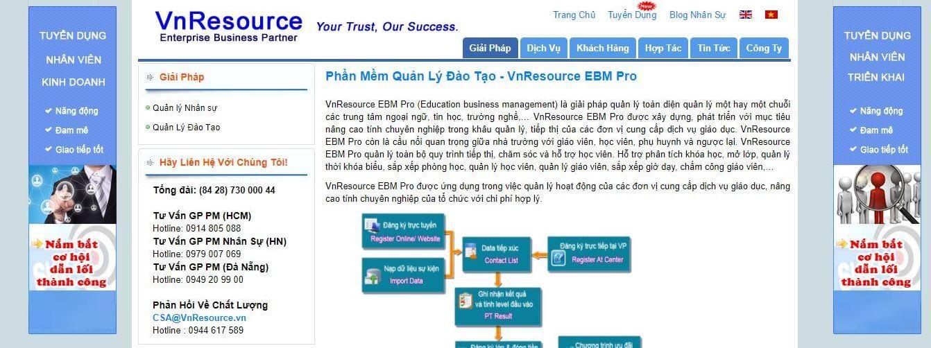 Phần mềm quản lý VnResource EBM Pro
