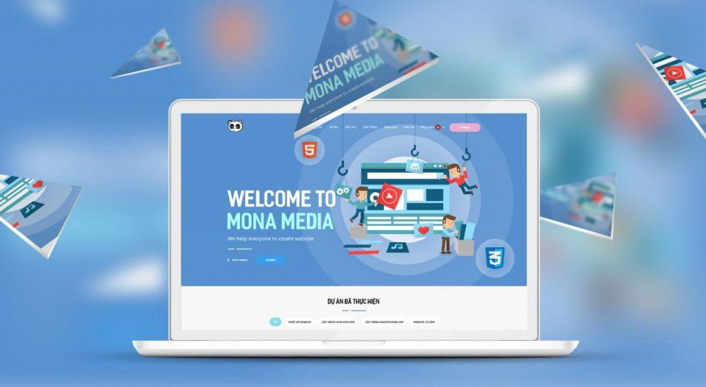 Công ty thiết kế website trọn gói giá rẻ Mona Media