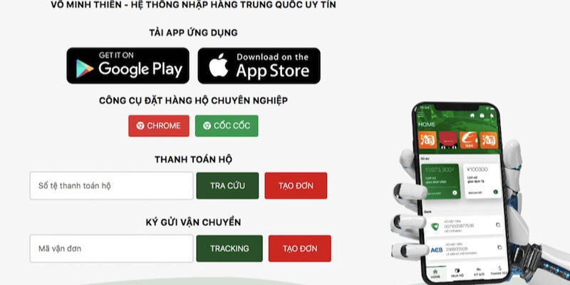 phần mềm nhập hàng Trung Quốc VMT