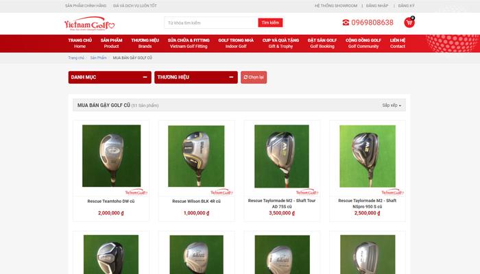 Trang web mua gậy golf cũ -Golfshopvietnam.com
