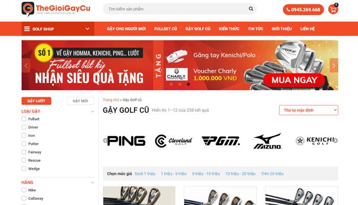 Trang web mua gậy golf cũ - Thegioigaycu.com